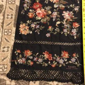 Lauren Ralph Lauren Vintage Scarf Black Floral